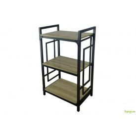 Стелаж 3 полиці Long (серія Квадро) Метал-Дизайн