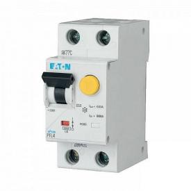 Дифференциальный автоматический выключатель PFL6 1+N C 25/0.03A 6kA Eaton