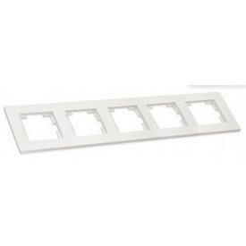 Рамка горизонтальна п'ятимісна RITA Mutlusan білий
