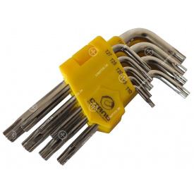 (48104) Набор Г-образных ключей TORX с отверстием СТАЛЬ