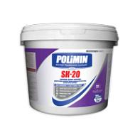Декоративная силикон-модифицированная структурная штукатурка короед POLIMIN SК-20 СИЛИКОН-ДЕКОР 25 кг База С