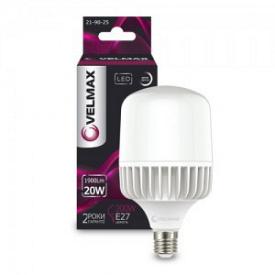 LED лампа VELMAX V-A65 20W Е27 6500K 1900Lm