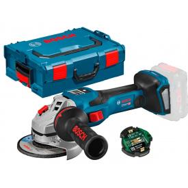 Акумуляторна кутова шліфмашина Bosch Professional GWS 18V-15 SC з регулюванням в L-Boxx 136 з Bluetooth модулем