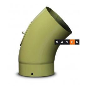 Коліно для димоходу емальоване сталеве DOVRE 45° 150 E9