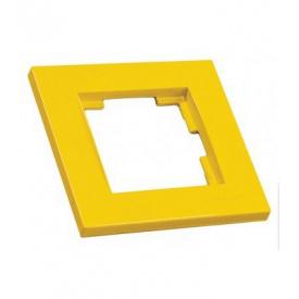 Рамка одномісна RITA Mutlusan жовтий