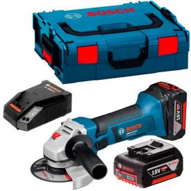 Болгарка акумуляторна Bosch Professional GWS 18 V-LI в L-Boxx 136 з 2 акб GBA 18V 4 Ah та з/п AL 1860 CV