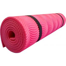 Коврик Polifoam однослойный c рифлением радуга 7 мм 0,5х1,8 м красный