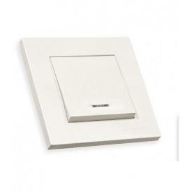 Вимикач 1 клавіша 10А зі світловим індикатором RITA Mutlusan білий