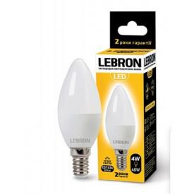 LED лампа Lebron L-С37 4W Е14 3000K 320Lm кут 220°