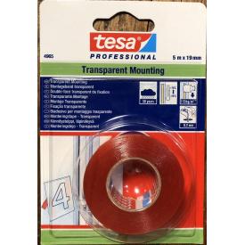 Монтажная лента прозрачная 5 м 19 мм Tesa