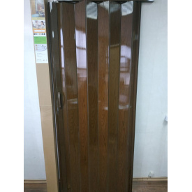 Двери гармошка глухая 810 х 2030 Каштан №14