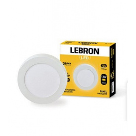 LED світильник LEBRON L-PRS-1241 12W накладний 4100K з блоком живлення
