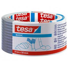 Тканевая лента BASIC Tesa серая 25 м 50 мм