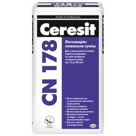 CERESIT СN-178 Легковыравниваемая смесь (15-80 мм), мешок 25 кг
