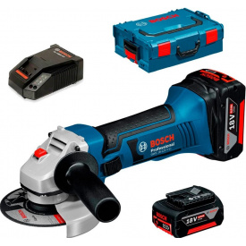 Кутова шліфмашина акумуляторна Bosch Professional GWS 18-125 LI в L-Boxx 136 з 2 акб GBA 18V 4 Ah та з/п AL 18