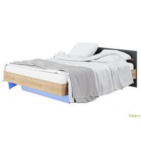 Ліжко 1.4 (з неоновою підсвіткою) Бянко (графіт) Світ Меблів