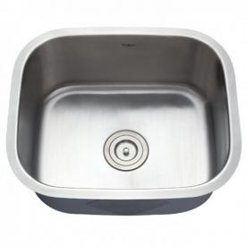 Кухонна мийка KRAUS вбудована знизу 527x451x228 мм хром KBU11