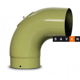 Коліно для димоходу емальоване сталеве DOVRE 90° 150 E9