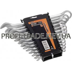 51-710 Набір ключів рожково-накидних CRV сатин 12 шт (6-22 мм) посиленою міцності