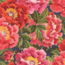 Виниловые обои на флизелиновой основе Rasch Kimono 408355 Розовый-Синий-Зеленый