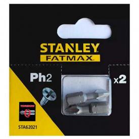 Набор бит STANLEY FatMax односторонняя, Ph2, 25 мм, 2 шт (STA62021)