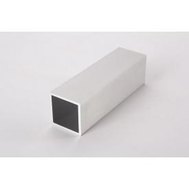 Труба квадратная пустотелая алюминиевая анодированная 30х30 алюминийBrush для мебельных конструкций 5,0 м 1 пог м