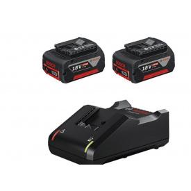 Набор 2 аккумулятора BOSCH GBA 18В 4,0Aч+зарядное устройство BOSCH GAL 18V-40 (1600A019S0)