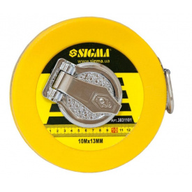 Рулетка скловолокно Sigma 10мх13мм (3831101)