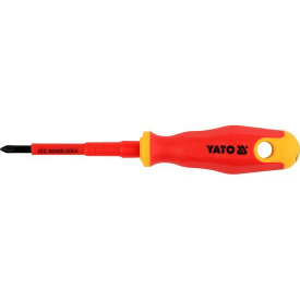 Отвертка крестовая YATO диэлектрическая PZ1x80мм VDE до 1000V (YT-2825)