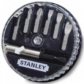 Набор бит STANLEY Pozidriv, 25 мм, 7 шт, пластиковая коробка (1-68-738)