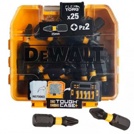Набор бит DeWALT EXTREME FLEXTORQ Pozidriv, Pz2, 25 мм, 25 шт, кейс (DT70556T)