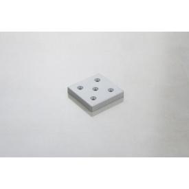 Меблева ніжка Poliplast НП-6 пластикова срібляста 10 мм