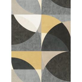Виниловые обои на флизелиновой основе Erismann ELLE DECORATION 12078-15 Серый-Оранжевый-Золотистый