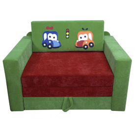 Малютка диван Ribeka Машинки Зеленый (07M033)