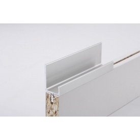 Меблева ручка профільна врізна Н 2 для ДСП 18 мм 5,95 м алюміній Brush