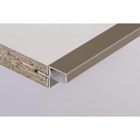 Профиль для фасадов без ручек в верхний модуль под LED-подсветку ФБР5950 мм коньяк