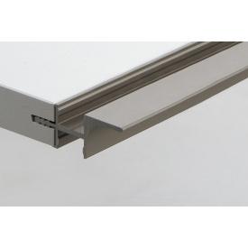 Профиль для фасадов без ручек (ФБР) в верхний модуль с пазами под LED-подсветку с 2 сторон 5950 мм коньяк