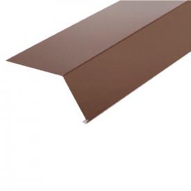 Планка карнизна SHINGLAS RAL 8017 коричнева