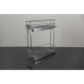 Карго Vibo 2-х уровневое бокового крепления правое для модуля 150 мм на скрытых направляющих с доводчиком полного выдвижения