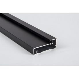 Алюминиевый рамочный профиль для мебельных фасадов М 41 5,95 м черный BRUSH