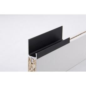 Меблева ручка профільна врізна Н 2 для ДСП 18 мм 5,95 м чорний Brush