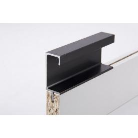 Меблева ручка профільна врізна Н 3 для ДСП 18 мм 5,95 м чорний Brush