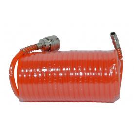 80 K 175 Шланг спиральный полиэтилен с быстроразъемным соединением 5,5x8 мм 20 м HOUSE TOOLS