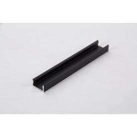 Алюмінієвий профіль накладної для світлодіодної стрічки LED чорний 5950 мм