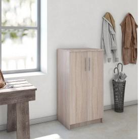 Шкаф с полками для одежды и обуви Forte Felix 1080x562x402 Дуб сонома