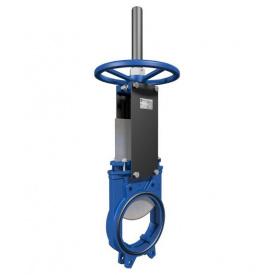 Засувка шиберна DN600 PN 10 двунаправлена чавунна Серія AB з ручним приводом