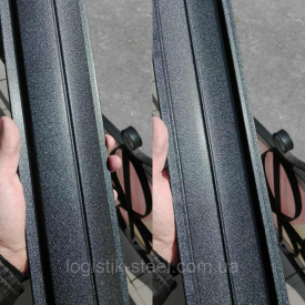 Штакетник двухсторонний 0,45 мм мат черный (RAL 9005) (Корея)
