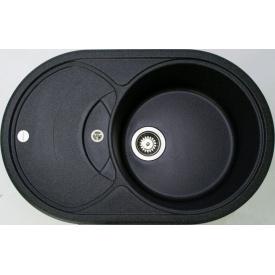 Кухонна мийка Adamant SHELL 775х495х200, з сифоном, 03 чорний