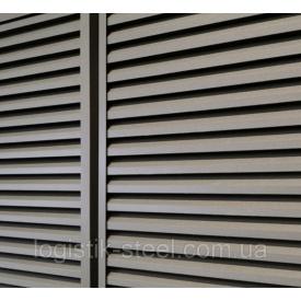 Забор Жалюзи Duos 60/50 мм симметричная ламель двухстороннее покрытие