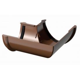 Кут жолоба Verat 90 градусів 125 мм коричневий
